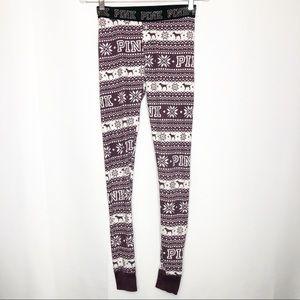 Victoria's Secret PINK Snowflake Dog PJ Pants